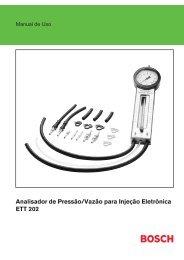 Analisador de Pressão/Vazão para Injeção Eletrônica ETT 202
