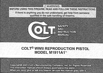 Colt 1911 WWII Reproduction M1911A1