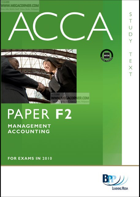 ACCA F2 - Management Accounting Study Text