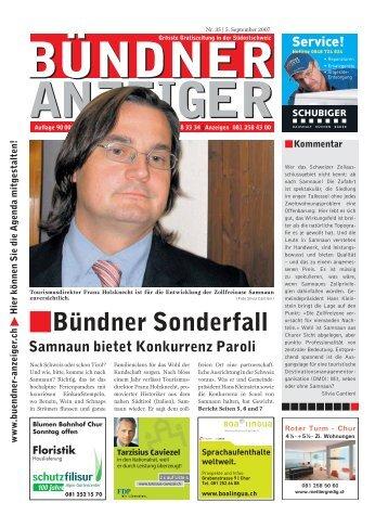 .Bündner Sonderfall - Bündner Anzeiger