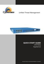 Unified Threat Management QUICK START GUIDE CR750ia Appliance