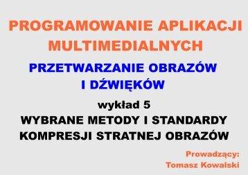 Vector Quantisation - Dydaktyka - Tomasz Kowalski