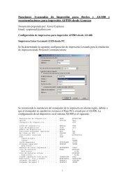 Funciones Avanzadas de Impresión para iSeries y ... - AS400 recursos