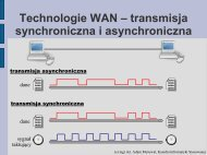Technologie WAN (c.d.) – ISDN (Integrated Services Digital Network)
