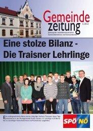 Eine stolze Bilanz - Die Traisner Lehrlinge - SPÖ Traisen