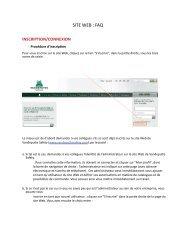 SITE WEB  FAQ
