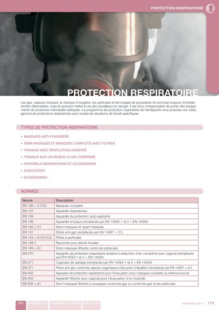 masque protection travaux