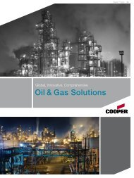 Oil & Gas Solutions - Cooper Industries