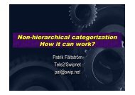 Non-hierarchical categorization How it can work?