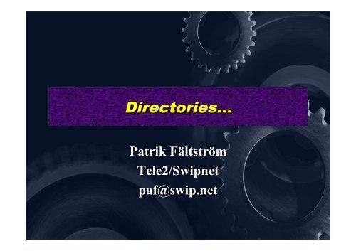 Directories..