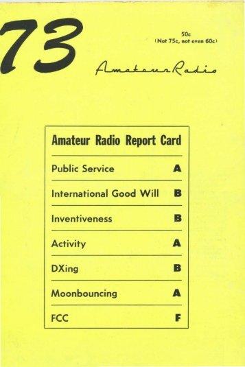 Amateur Radio Report Card