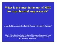 What is the latest in the use of MRI for experimental lung research?