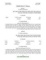Shabbat 13 - Kol Tuv Sefarad