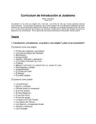 Curriculum de Introducción al Judaísmo - Kol Tuv Sefarad