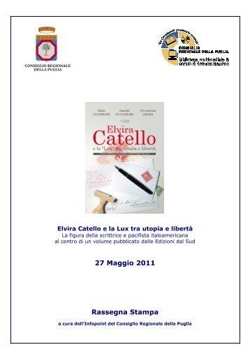 27 Maggio 2011 Rassegna Stampa - Biblioteca del Consiglio ...