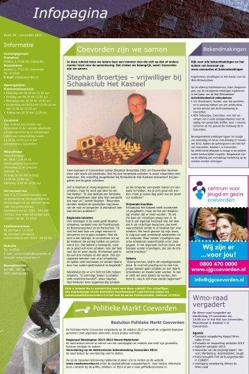 Infopagina - Gemeente Coevorden