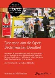 Doe mee aan de Open Bedrijvendag Drenthe!