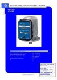IMP2200/ ITP2200 - Catellani Tecno Forniture Elettriche srl
