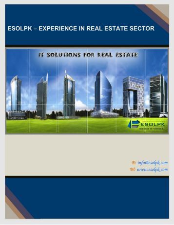 ESOLPK – EXPERIENCE IN REAL ESTATE SECTOR