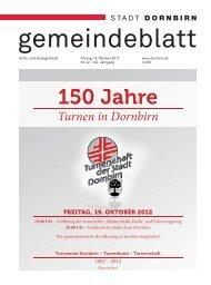 Dornbirner Gemeindeblatt KW 42 vom 19.10.2012