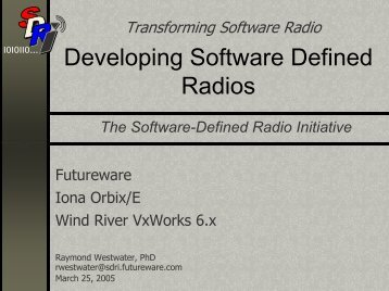 Developing Software Defined Radios