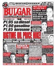 September 6, 2015 BULGAR: BOSES NG MASA, MATA NG BAYAN