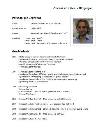 Vincent van Geel - Biografie