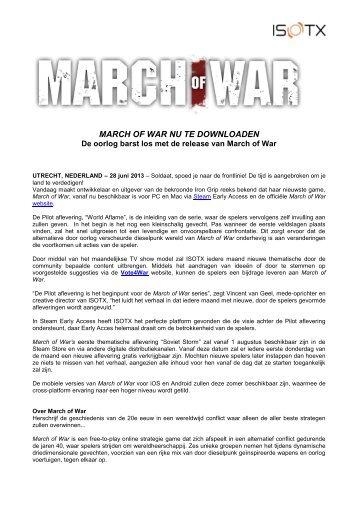 MARCH OF WAR NU TE DOWNLOADEN