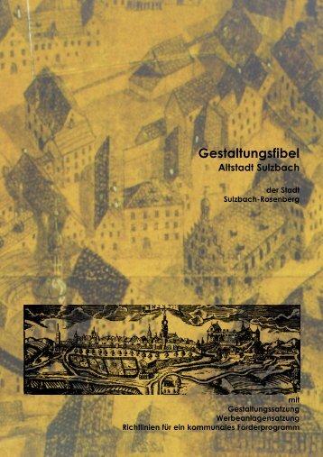 Gestaltungsfibel Sulzbach - Stadt Sulzbach-Rosenberg