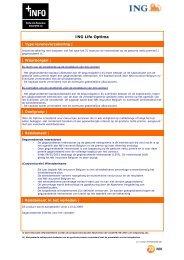 financiële infofiche over levensverzekeringen - ING Belgium