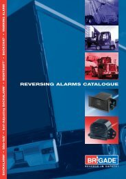 Reversing alarms catalogue - the Derwent Group