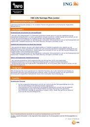 fiche info financière relative aux assurances vie - ING Belgium