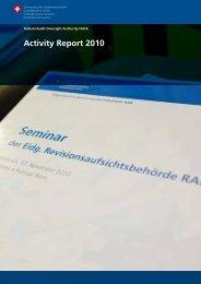 Activity Report 2010 - ifiar