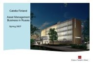 Catella Finland Asset Management Business in Russia