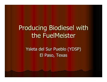 Producing Biodiesel with the FuelMeister - Collective Biodiesel ...