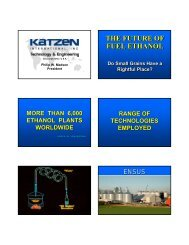 THE FUTURE OF FUEL ETHANOL THE FUTURE OF THE FUTURE OF FUEL ETHANOL FUEL ETHANOL