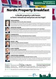 Nordic Property Breakfast - PIE Mag