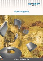 PDF-Broschüre Permanentmagnete - Goudsmit Magnetics