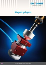 Magnet grippers