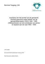 Inventaris van het archief van de gemeente Voorburg gevormd ...