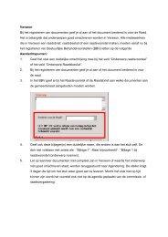 Verseon Bij het registreren van documenten geef je al aan of het ...