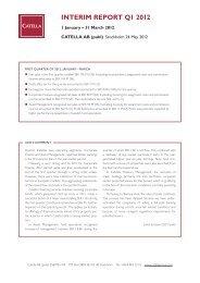 Catella Interim Report Q1 2012 - Cision