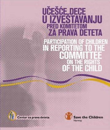 preuzmite pdf (6.35 MB) - Centar za prava deteta