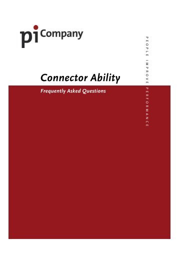 FAQ Connector Ability - PiCompany