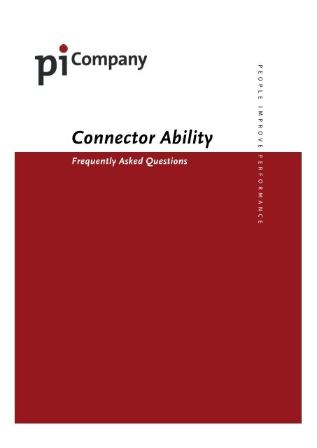 FAQ Connector Ability - PiCompany