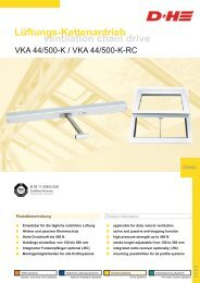 ventilation chain drive Lüftungs-Kettenantrieb - D+H Mechatronic
