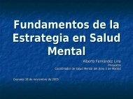 Fundamentos de la Estrategia en Salud Mental