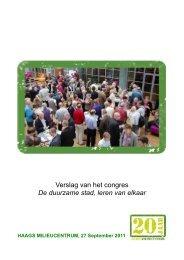 Verslag van het congres De duurzame stad leren van elkaar