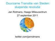 Duurzame Transitie van Steden sluipende revolutie
