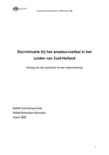 Discriminatie bij het amateurvoetbal in het zuiden van Zuid-Holland